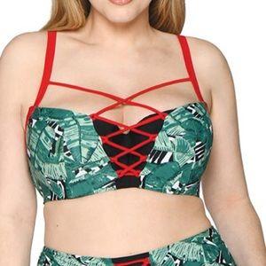 NWT Curvy Kate Balcony Bikini Top 32H